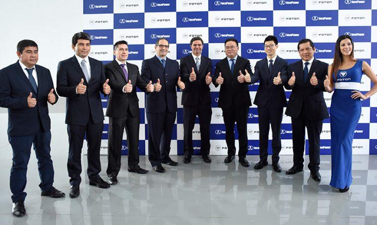 Directivos de FOTON en IncaPower, dando inicio oficial a sus actividades comerciales.