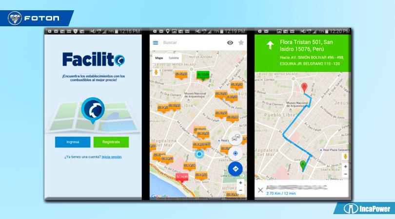 App Facilito - Combustible mas barato en todo el Perú