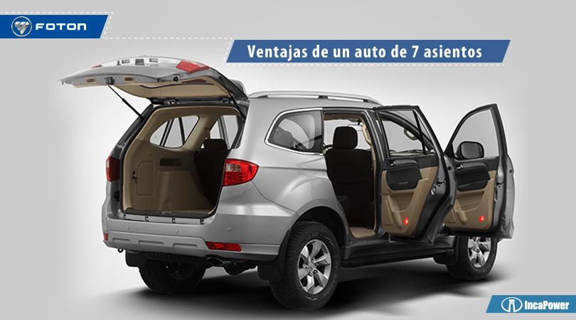SUV de 7 asientos. Sauvana de Foton Perú. Todoterreno.