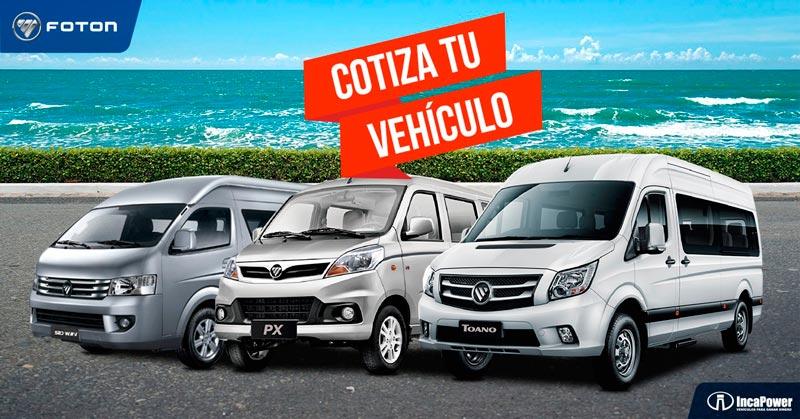 Cotiza tu vehículo Foton y escápate este verano.