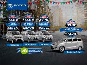 Foton - vehículos con GNV de fábrica gratis