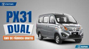 Minivan para negocio - FOTON - Dual (gasolina y GNV de fábrica gratis)