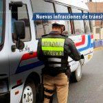 Nuevas Infracciones de tránsito 2019