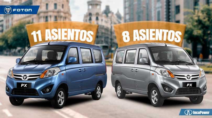 Minivan Foton 8 y 11 asientos