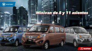 Minivan de 8 y 11 asientos