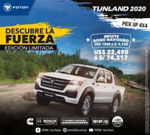 PickUp 4x4 - Tunland 2020 Foton
