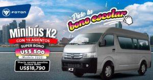 Minibus K2 Foton a gasolina