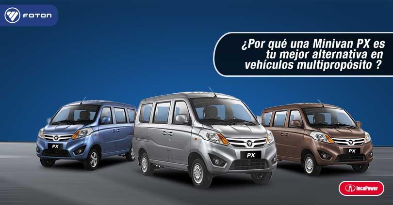 ¿Por qué una Minivan PX de FOTON es tu mejor alternativa en vehículos multipropósito?